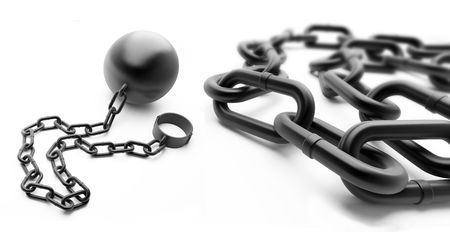 shackle: shackle on a white background Stock Photo