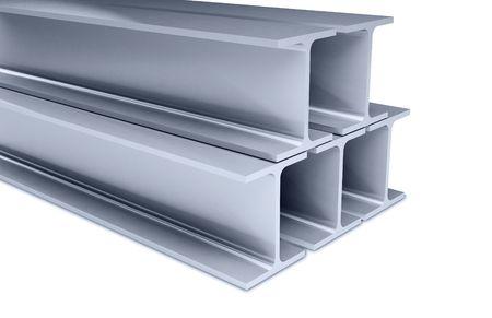 girders: metallic joists on a white backgroun