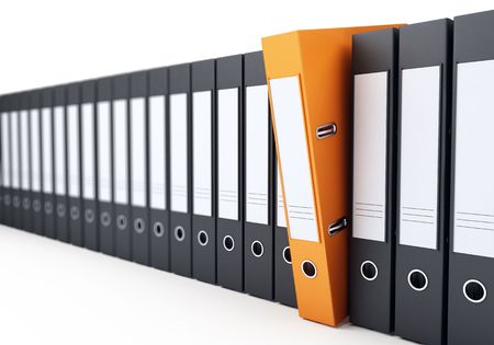 binders: office folders on a white background