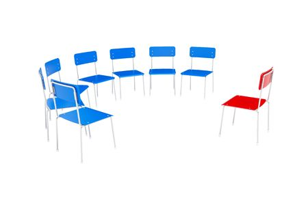 threw: chairs on a white background