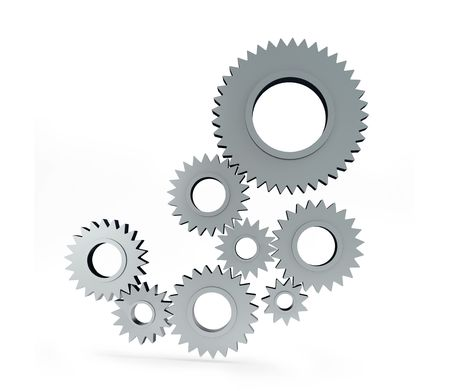 gear isolated on a white background Stock Photo - 5385064