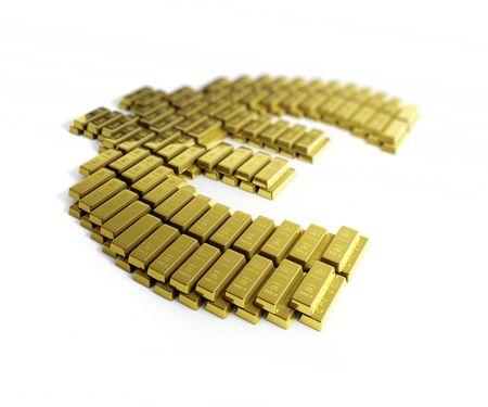 gold symbol euro Stock Photo - 5664753