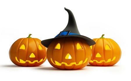 calabazas de halloween: de calabaza de Halloween Foto de archivo