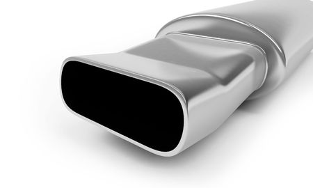 muffler on a white background photo