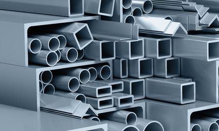metallic pipes, corners, types photo