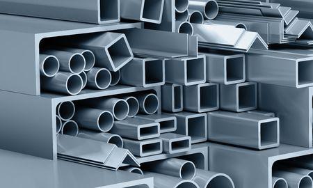 metallic pipes, corners, types Stok Fotoğraf