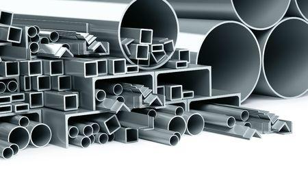 metallic pipes, corners, types photo