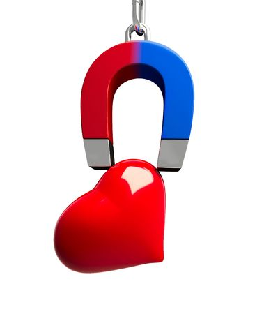 strong magnetic field: magnet heart