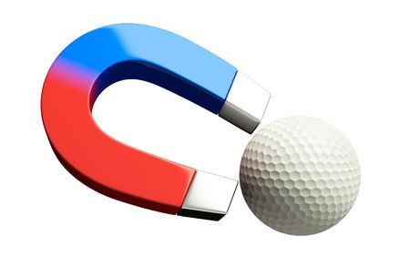 magnetism: magnet golf Stock Photo