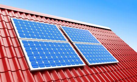 flat roof: roof solar panels
