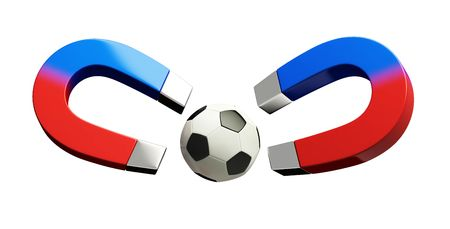 magnetism: magnetic sports Stock Photo