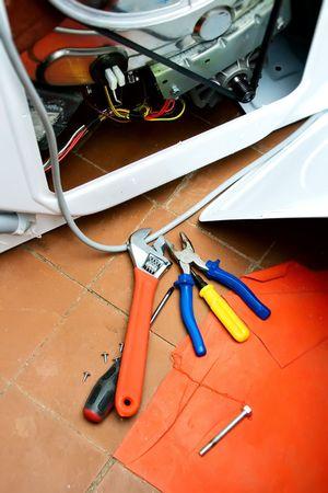 repair of washing-machine photo