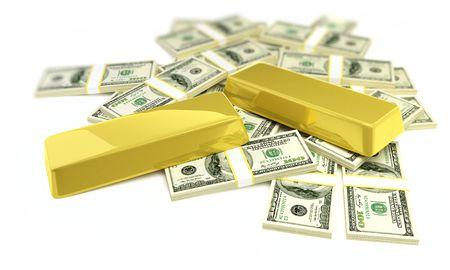 bullions and dollars  photo
