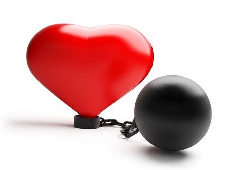 vile: heart in durance vile Stock Photo