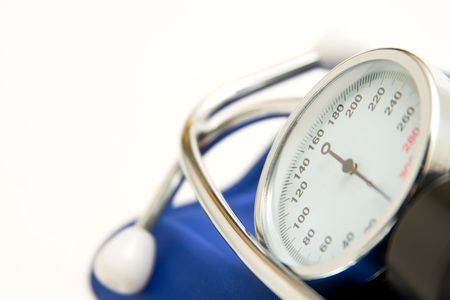 hypertensive: medicine manometer Stock Photo
