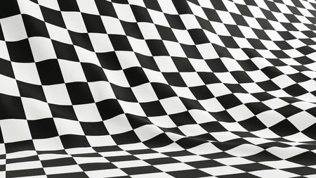 checker flag: flag formula 1 Stock Photo