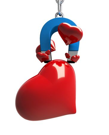 magnet heart Stock Photo - 6341549