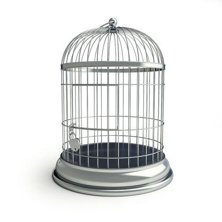 enclose: cage for birds