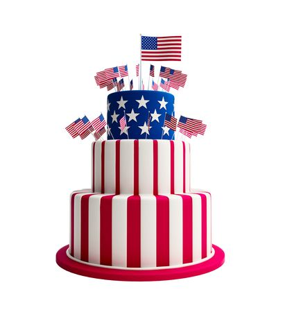 cake usa Stock Photo
