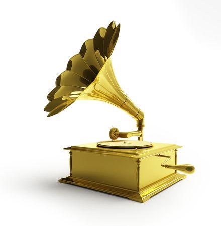 gold gramophone photo