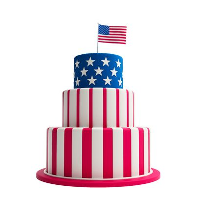 usa cake Stock Photo