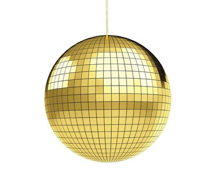 gold record: disco discoball  Stock Photo