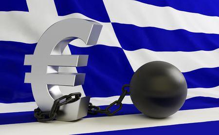 crisis Greece Stock Photo
