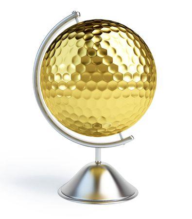 balle de golf: signe de balle de golf globe
