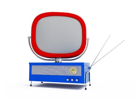 old tv isolated on a white background  Stock Photo - 7685853