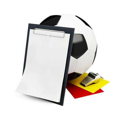 List of football judges and arbitrators isolated on a white background  photo
