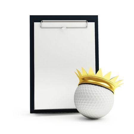 training schedule golf machine gear on a white background  photo