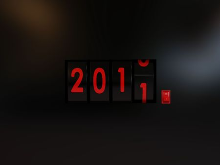 counter turn of the year 2011 photo