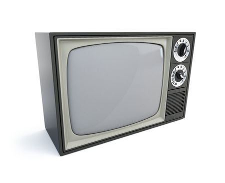 old televisor isolated on a white background Stock Photo - 7685846
