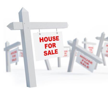 blank house for sale on a white background  Zdjęcie Seryjne