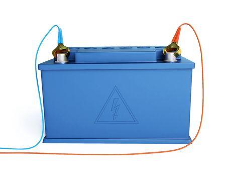12v: solated de bater�a de acumuladores sobre un fondo blanco