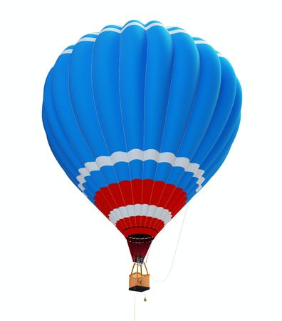 hot air balloon isolated on a white background  photo