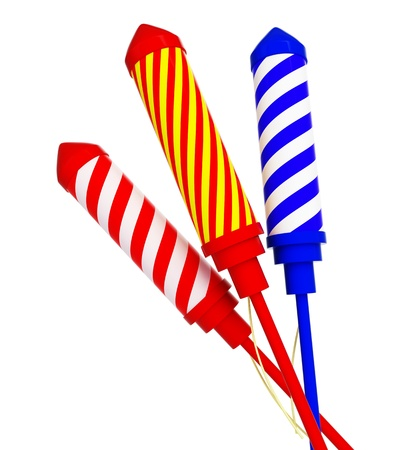 rocket: Firework rockets  isolated on a white background