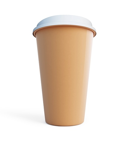 Paper Coffee Cup isolated on a white background