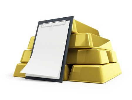 gold bullion blank Stock Photo - 8456060