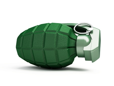 grenade on a white background