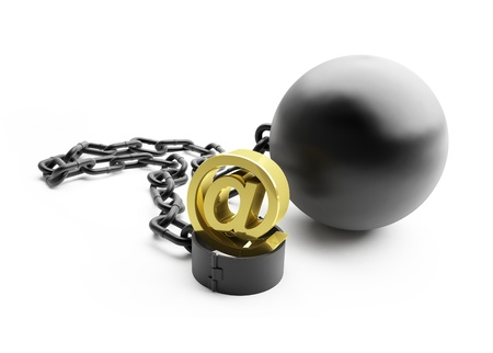 shackle mail on a white background Stock Photo - 8458613