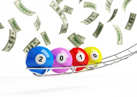 2010 new years bingo balls