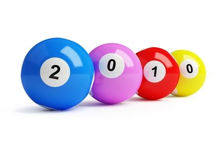 2010 new year's bingo balls