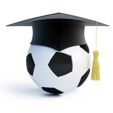 footbol school isolated on a white background Stock Photo