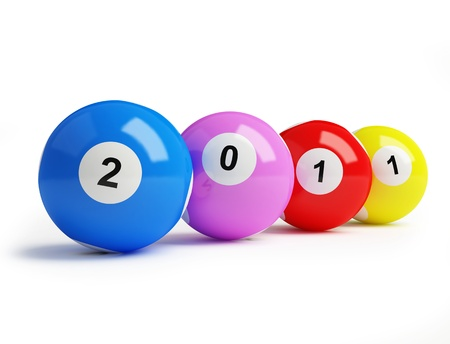 2011 new year's bingo balls Stock Photo - 8458504