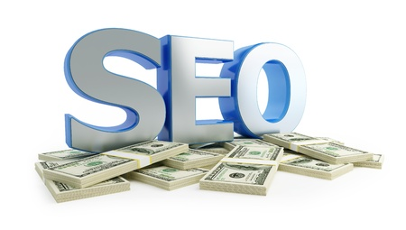 SEO dollar Stock Photo