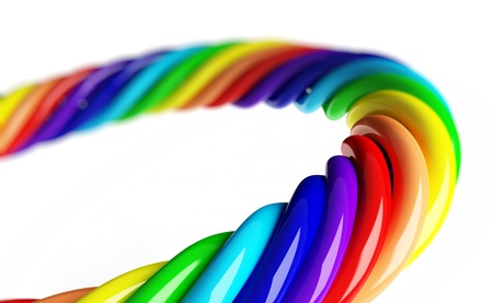 rainbow spiral on a white background  Stock Photo - 8458606