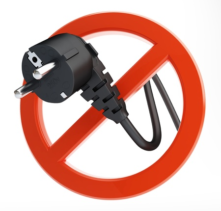 not power sign on a white background