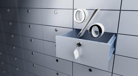 opened empty bank deposit cel interest money photo