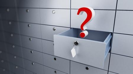 cel: Banca vuoto aperto cel punto interrogativo